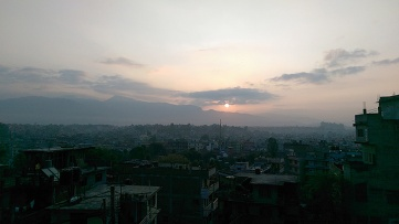 Sunrise view from Raniban, Kathmandu